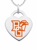 Bowling Green Falcons Logo Heart Pendant With Color