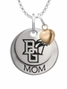 Bowling Green Falcons MOM Necklace with Heart Charm