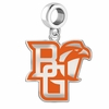 Bowling Green Falcons Silver Logo and School Color Drop Charm