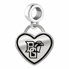 Bowling Green State Falcons Border Heart Dangle Charm