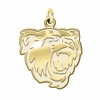 Bridgewater State Bears 14K Yellow Gold Natural Finish Cut Out Logo Charm