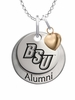 Bridgewater State Bears Alumni Necklace with Heart Accent