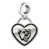 Bridgewater State Bears Border Heart Dangle Charm