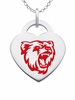 Bridgewater State Bears Color Logo Heart Charm