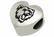 Bridgewater State Bears Heart Shape Bead