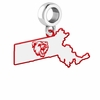Bridgewater State Bears Logo Dangle Charm