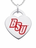 Bridgewater State Bears Logo Heart Pendant With Color