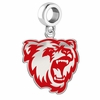 Bridgewater State Bears Silver Logo and School Color Drop Charm