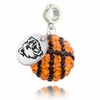 Bridgewater State Crystal Drop Charm