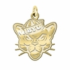 Brigham Young Cougars 14K Yellow Gold Natural Finish Cut Out Logo Charm