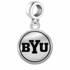 Brigham Young Cougars Border Round Dangle Charm