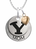 Brigham Young Cougars MOM Necklace with Heart Charm