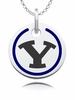 Brigham Young Cougars Round Enamel Charm