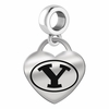 Brigham Young BYU Heart Dangle Charm