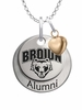 Brown Bears Alumni Necklace with Heart Accent