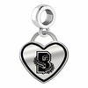 Brown Bears Border Heart Dangle Charm