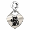Brown University Heart Dangle Charm