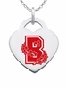 Brown Bears Logo Heart Pendant With Color