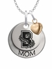 Brown Bears MOM Necklace with Heart Charm