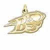 Bucknell Bison 14K Yellow Gold Natural Finish Cut Out Logo Charm