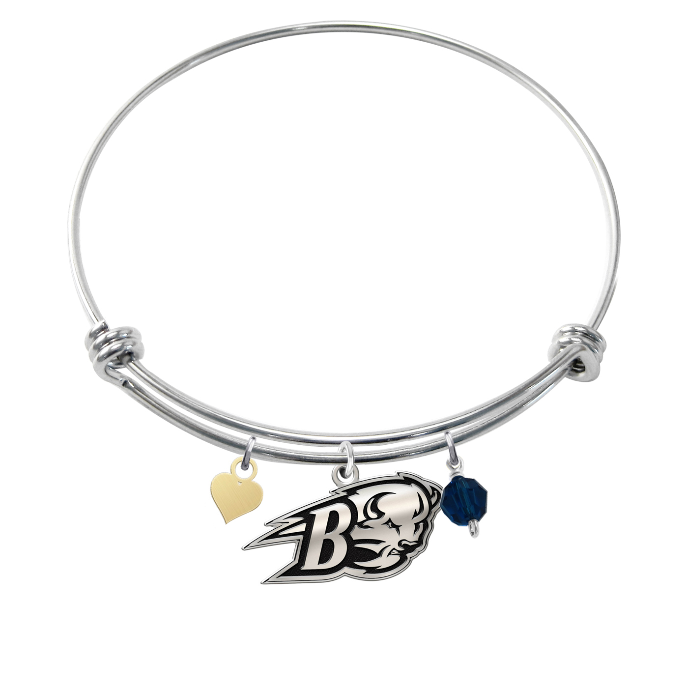 bangle wholesale eds bracelet bucknell collegiate jewelry bubibabr bison