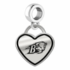Bucknell Bison Border Heart Dangle Charm