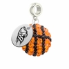 Bucknell Bison Crystal Drop Charm