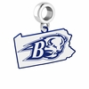 Bucknell Bison Logo Dangle Charm