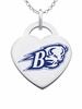 Bucknell Bison Logo Heart Pendant With Color