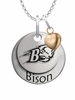 Bucknell Bison with Heart Accent