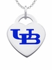 Buffalo Bulls Color Logo Heart Charm