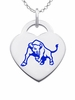Buffalo Bulls Logo Heart Pendant With Color
