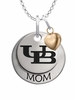 Buffalo Bulls MOM Necklace with Heart Charm