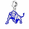 Buffalo Bulls Silver Logo and School Color Drop Charm