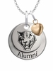 Buffalo State Bengals Alumni Necklace with Heart Accent