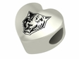 Buffalo State Bengals Heart Shape Bead