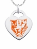 Buffalo State Bengals Logo Heart Pendant With Color