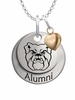 Butler Bulldogs Alumni Necklace with Heart Accent