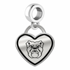 Butler Bulldogs Border Heart Dangle Charm
