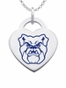 Butler Bulldogs Color Logo Heart Charm