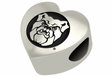 Butler Bulldogs Heart Shape Bead