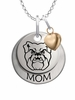 Butler Bulldogs MOM Necklace with Heart Charm