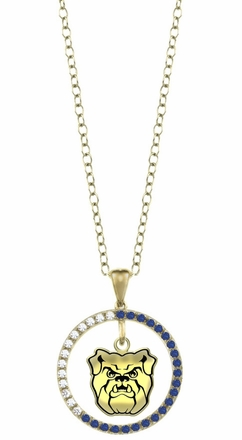 Butler Bulldogs Sapphire and Diamond Necklace