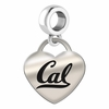 California Berkeley Heart Dangle Charm
