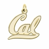 California Berkeley Golden Bears 14K Yellow Gold Natural Finish Cut Out Logo Charm