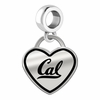 California Berkeley Golden Bears Border Heart Dangle Charm