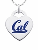 California Berkeley Golden Bears Logo Heart Pendant With Color
