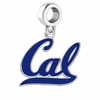 California Golden Bears Silver Logo and School Color Drop Charm