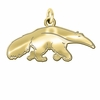 California Irvine Anteaters 14K Yellow Gold Natural Finish Cut Out Logo Charm