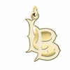 California State Long Beach 49ers 14K Yellow Gold Natural Finish Cut Out Logo Charm